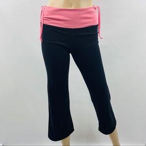 Lululemon Black & Pink Crop Leggings